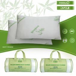 1/2 Pack Hotel Home Bedroom Bamboo Memory Foam Pillow Hypoal
