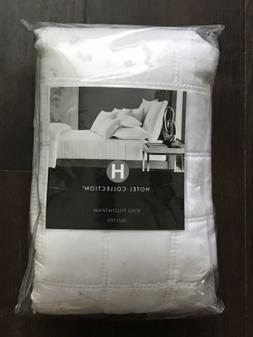 2 Hotel Collection Basic Check 400 Thread Count KING Quilted
