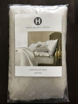 2 Hotel Collection Opalescent Quilted EURO Pillow Shams - Oy