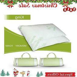 2 Pack Hotel Bamboo Bamboo Memory Foam Pillow Hypoallergenic