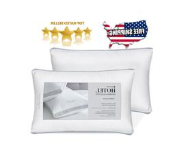 2 pk Hotel Reserve Collection Cotton Bed Pillows  Standard Q