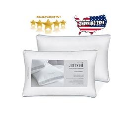 """2 pk Hotel Reserve Collection Cotton Bed Pillows 20"""" x 30"""" S"""