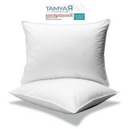 """2 x Microfibre Continental Square Pillow 65cm x 65cm 26"""" x 2"""