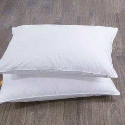 2PCS King Size 30% Goose Down Feather Bed Pillows Side Sleep