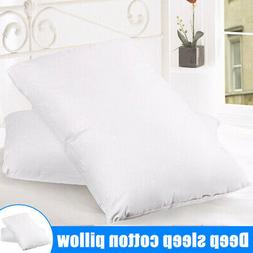 2PCS Soft Down Blend Bed Pillows Cotton Cover Home Hotel Bed