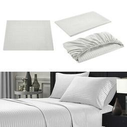 3-Piece Home Hotel Bedding Linen Set Flat Sheet Fitted Sheet