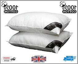 5* Hotel Quality 200TC Egyptian Cotton Pillows - **2 Pack**