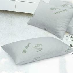 Bamboo Pillow Shredded Latex Foam Pillow with Zippered Home