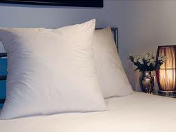 """Continental Euro Square Pillows Pair 65cm x 65cm 26"""" x 26"""" L"""
