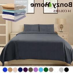 Deep Pocket Bed Sheet Set Soft Deluxe Hotel 6 Piece King Siz