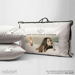 """Egyptian Cotton Bed Pillows Luxury Hotel Quality 19"""" x 28""""-"""