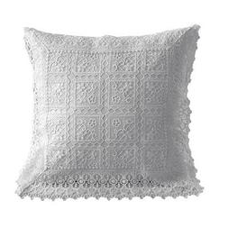 embroidered lace pillow case multifunction home decor