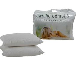 Extra Filled Jumbo Bed Pillows Hotel Quality Hollowfibre Fil
