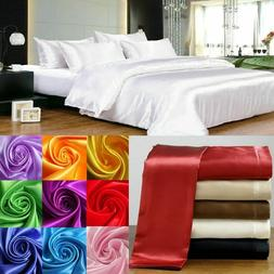 HOTEL COLLECTION 1000TC SATIN SILK 3PC FITTED SHEET SOLID CH