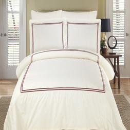Hotel Luxury Cotton Patterned Duvet Cover Sets 3 PC MAYA Duv