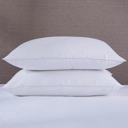 Set Of 2Hotel Quality White Goose Down Blend Pillows King St