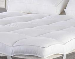King Mattress Topper, Plush Pillow Top Mattress Pad/Bed Topp