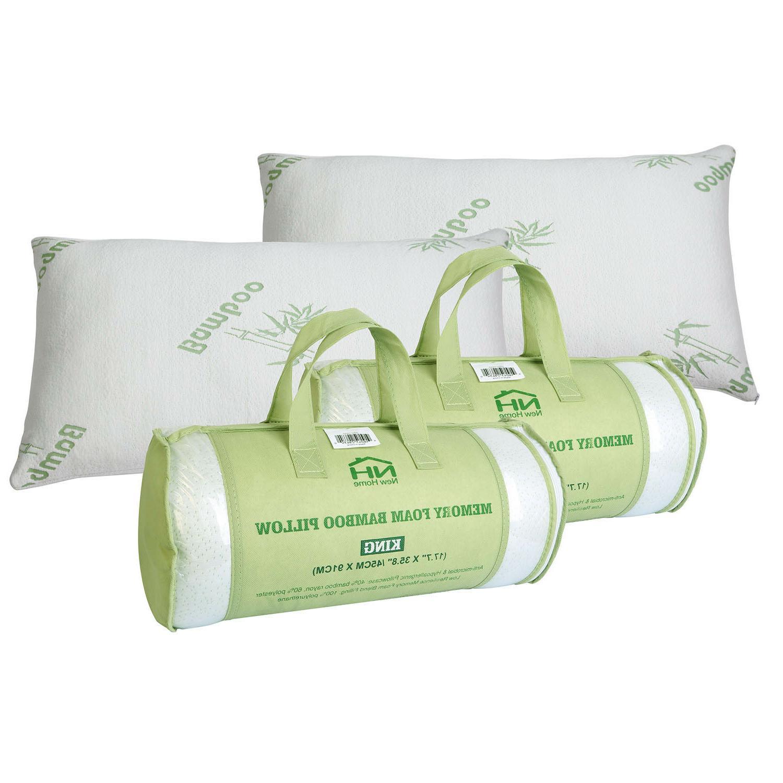 1- Home Bedroom Foam Pillow Queen/King
