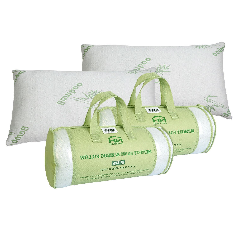 1- 2 Home Bamboo Foam Pillow Hypoallergenic