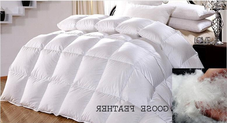 100 percent cotton luxury goose feather down