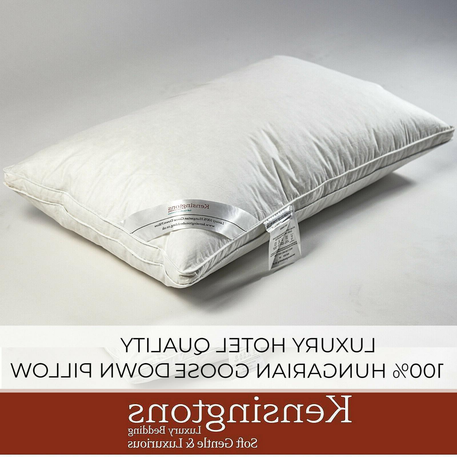 100 percent pure hungarian goose down pillows