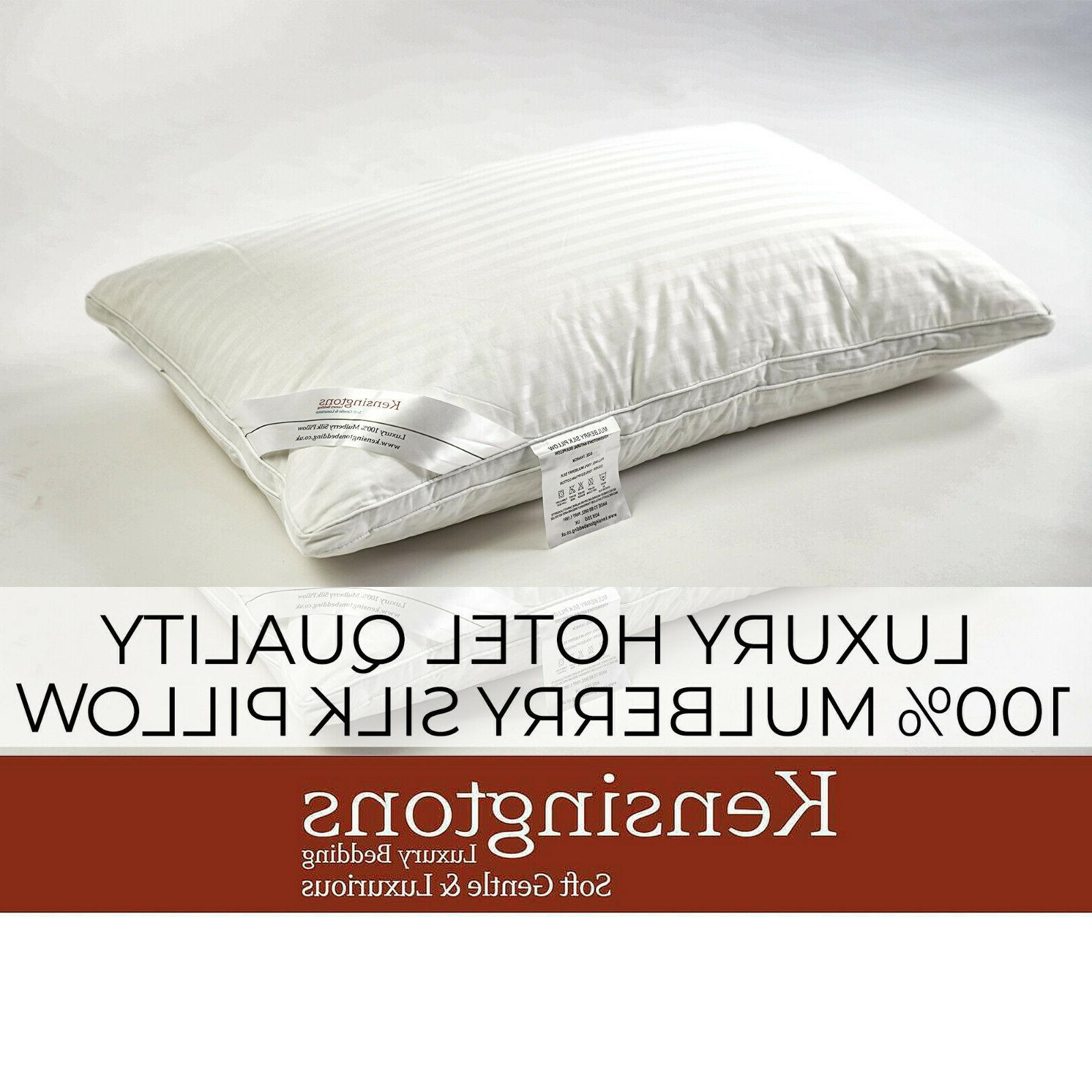 100 percent pure mulberry silk filled pillows