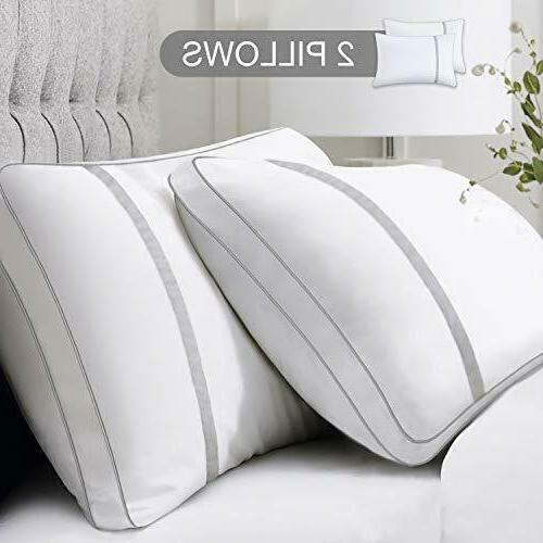 2 pack hotel quality bed pillow standard