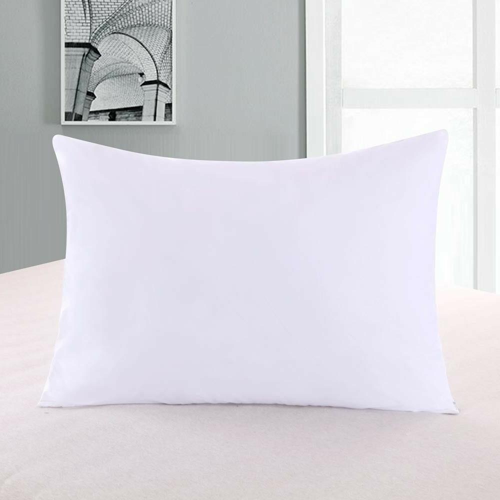 2 pillow protectors zippered hypoallergenic down proof