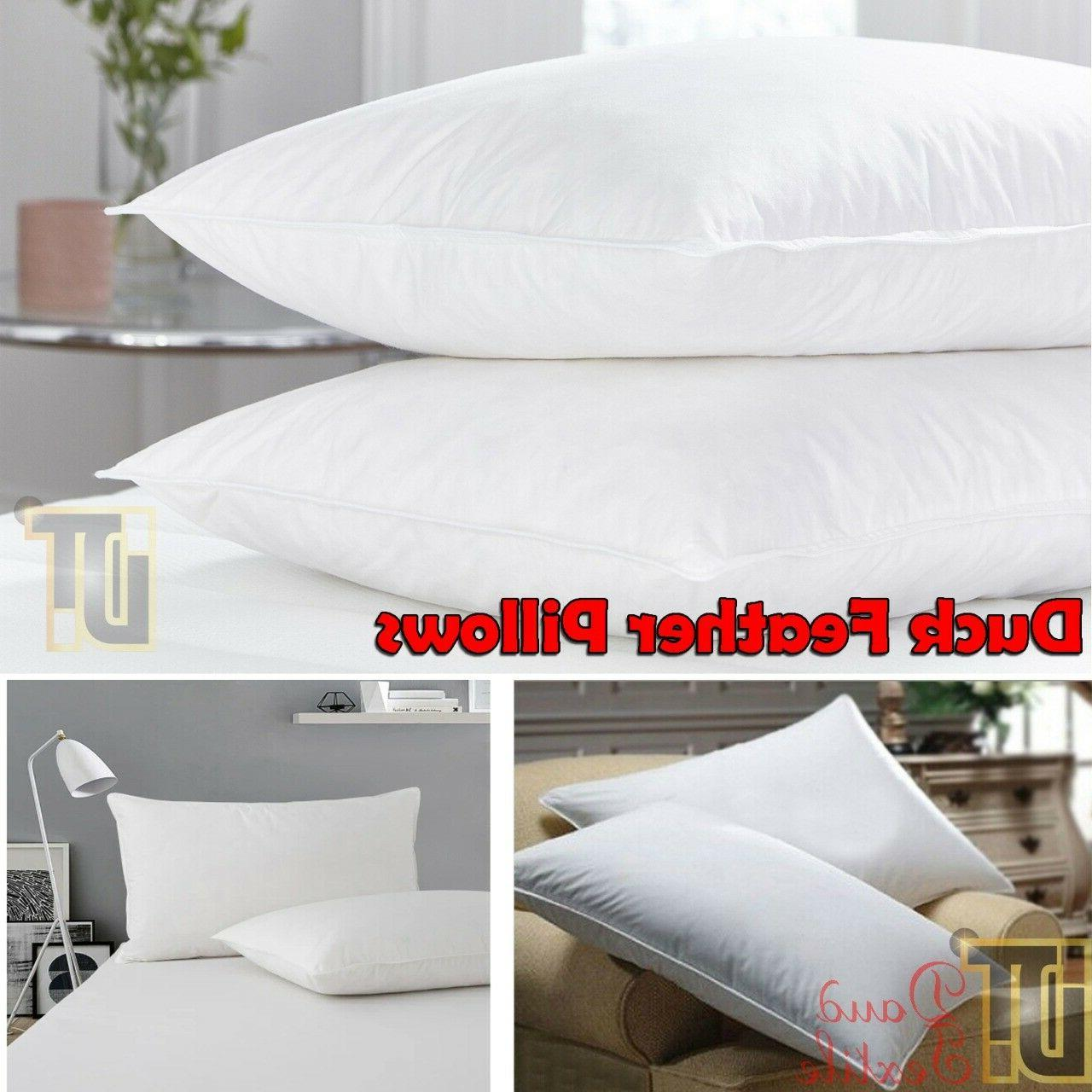 2 X Luxury Feather & Down Comfortable Filling Quality