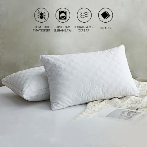 2pack sleeping pillows soft hotel home bed