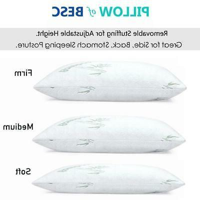 Bamboo Pillow Shredded Latex Foam Pillow with Home Pillows
