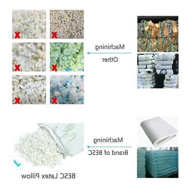 Bamboo Shredded Latex Foam Zippered Home Hotel Pillows