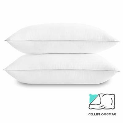 Basic Down Alternative Bed Pillow Pack Hotel Collection Super Soft Pi