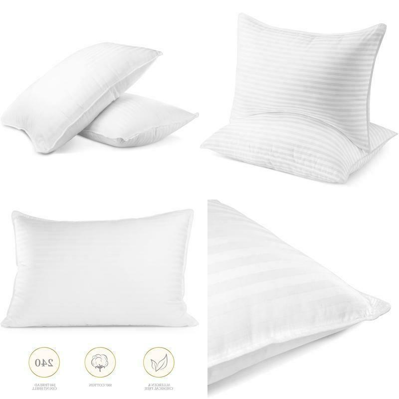 NEW 2-Pack Beckham Hotel Collection Gel Pillow - Luxury Plush Assorted Sizes