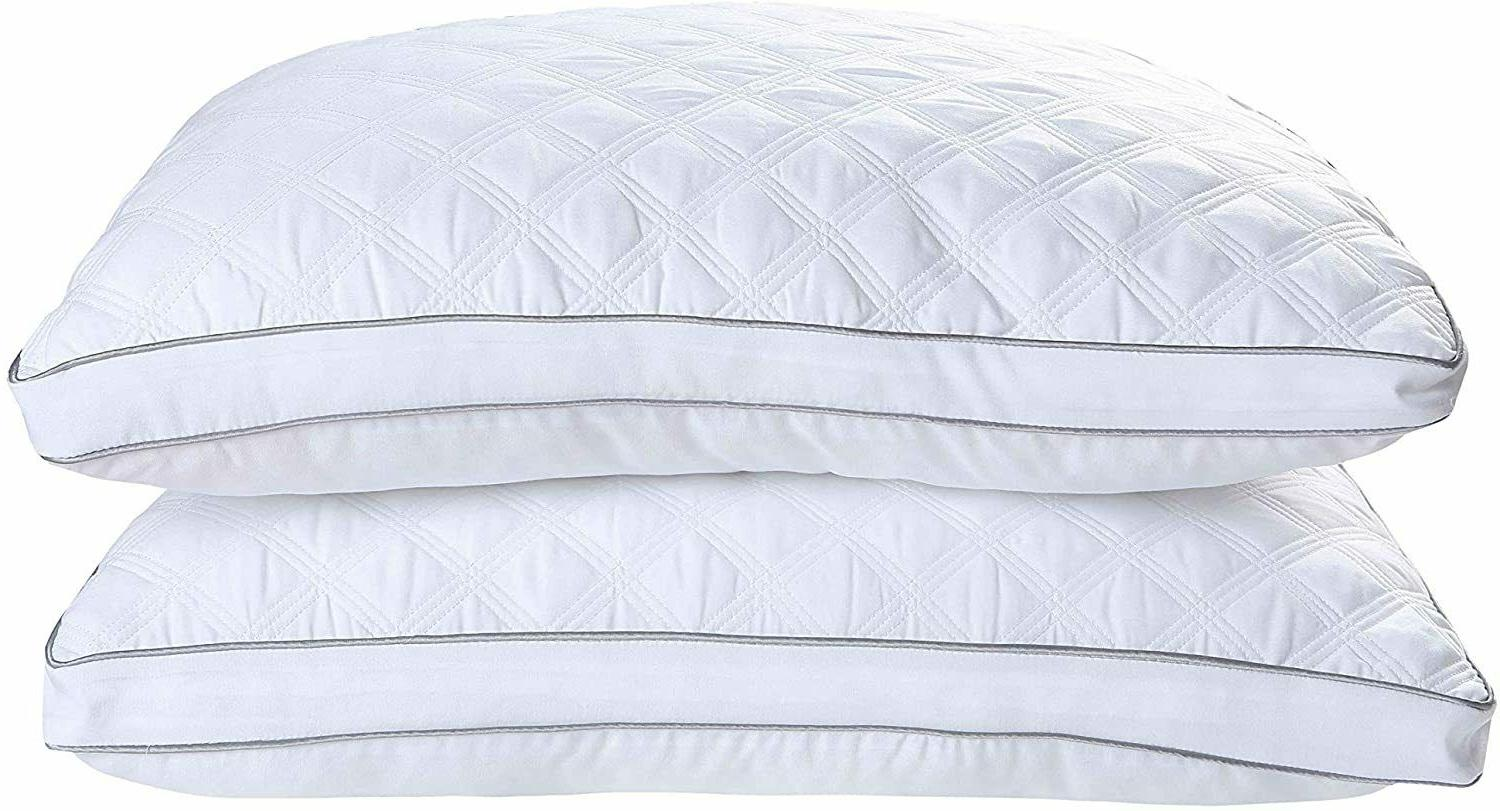Gusseted Pillow of 2 Support & Back Sleepers Pillows
