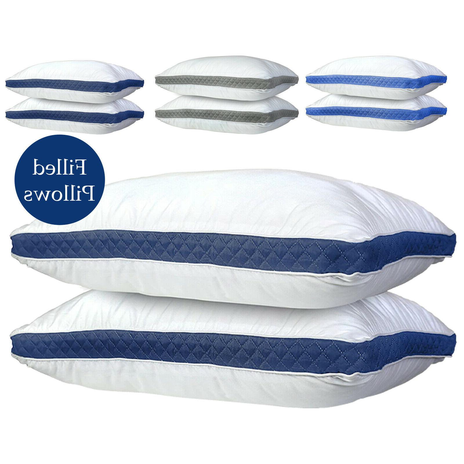 Gusseted Pillow 2 Bed Pillows Neck Support & Back Sleepers Pillows