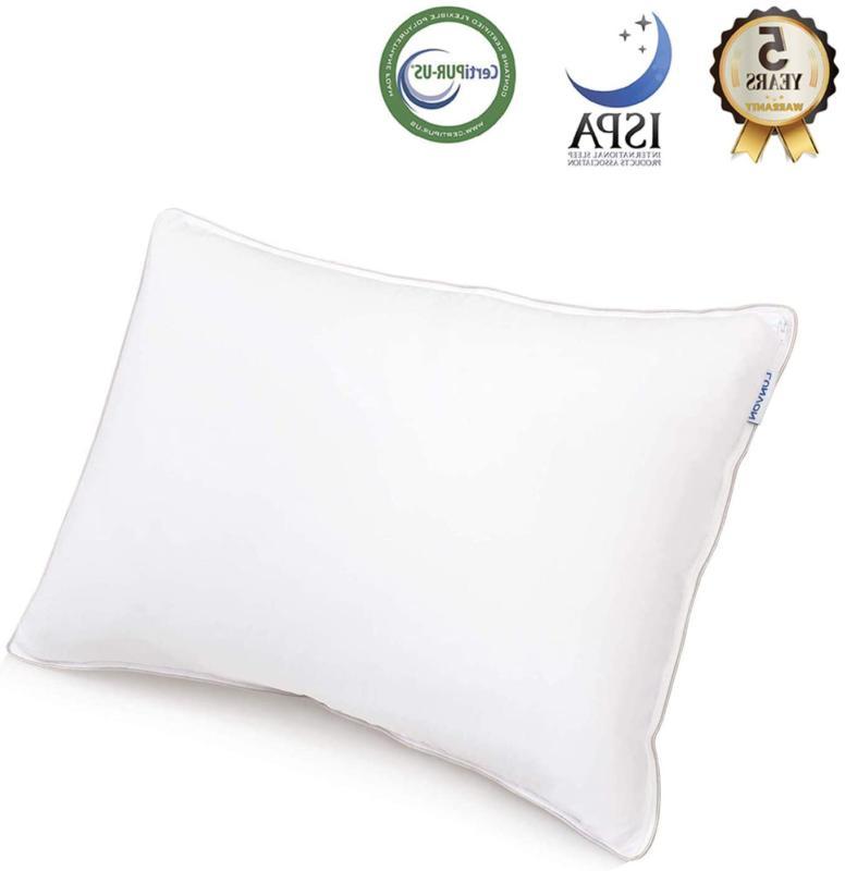 lunvon gel queen sleeping pillows adjustable shredded