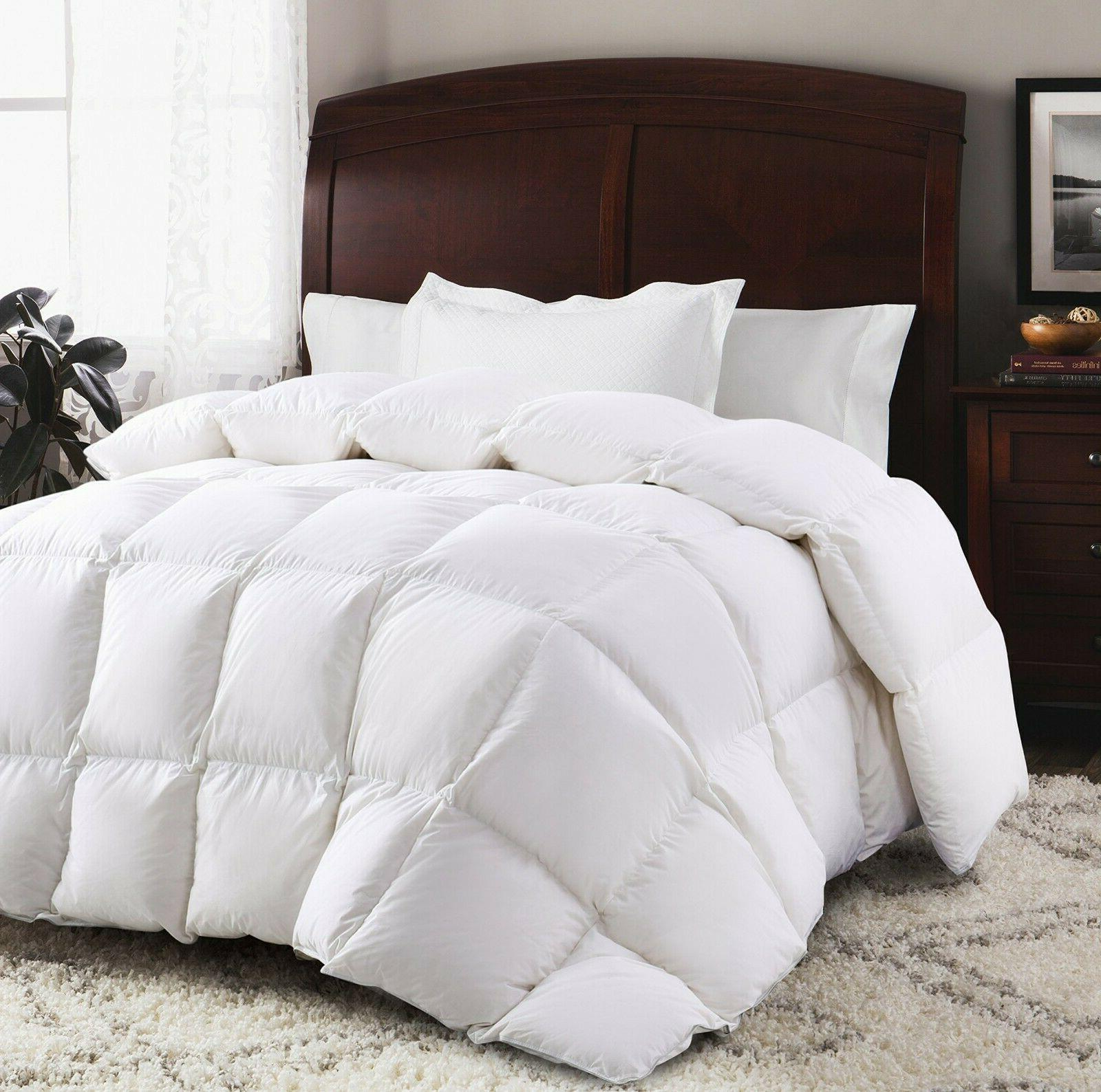 luxury duck feather and down duvet quilt