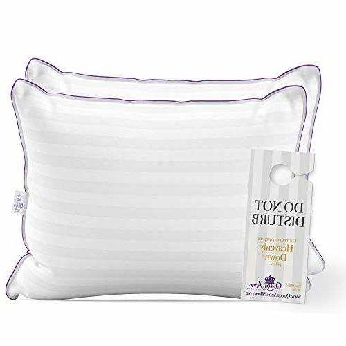luxury hotel pillows 2 pack heavenly hypoallergenic