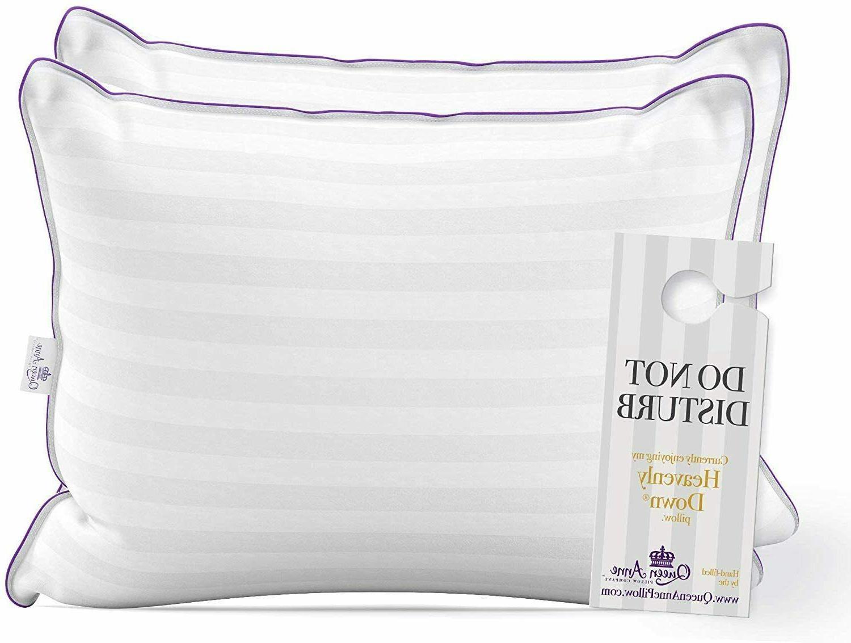 Luxury Hotel Pillows Pack Majesty Down Allergy Hypoallergen