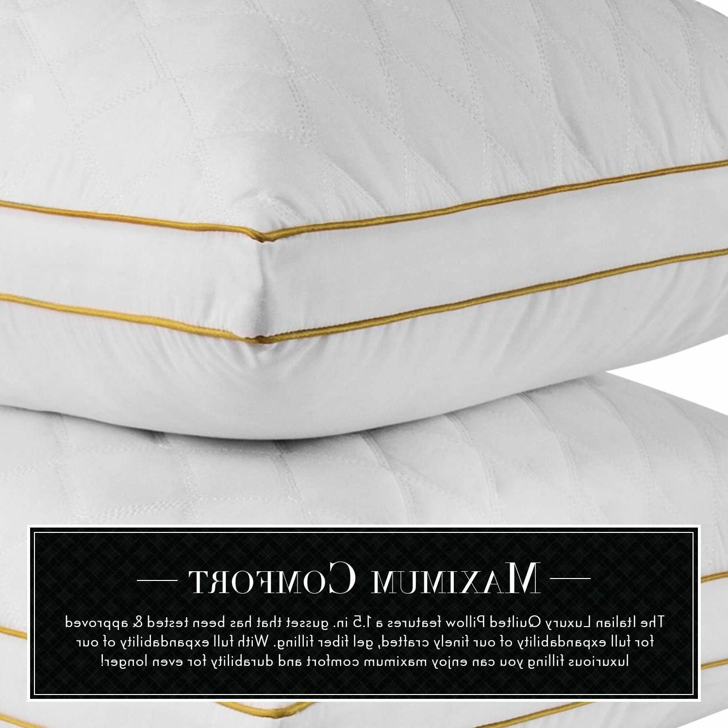 new quilted pillow hotel quality plush gel
