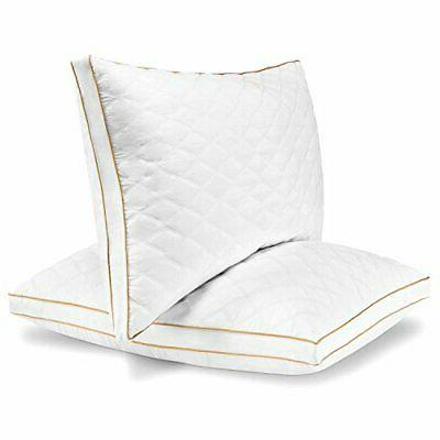 quilted pillow 2 pack hotel quality plush