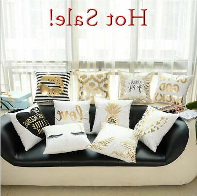 us gold printed pillow case cover sofa