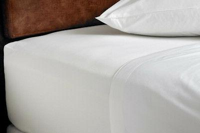 white percale non iron fitted sheets single
