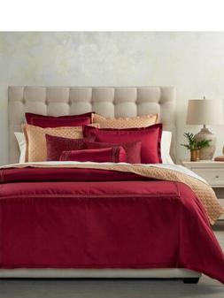 Hotel Collection Luxe Border European Sham Color Red