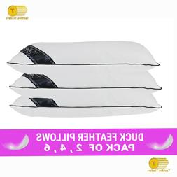 Duck Feather & Down Pillows Pillow Extra Filled Hotel Qualit