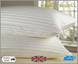Luxury Deluxe Bounce Back Pillows Stripe Extra Filled Super