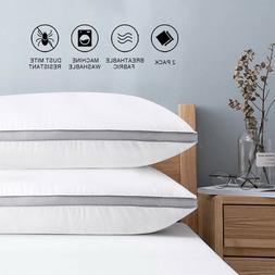 Set of 2 Breathable Cotton Pillows Hotel Down-Alternative Be