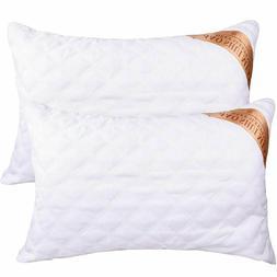 Luxury Queen Bed Pillow Hotel Sleep Hypoallergenic Cotton Fi