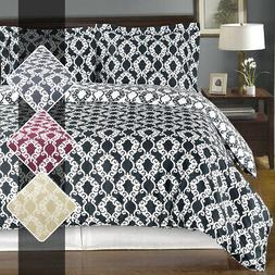 Luxury Soft Reversible Sierra 100% Cotton Duvet Cover and Tw